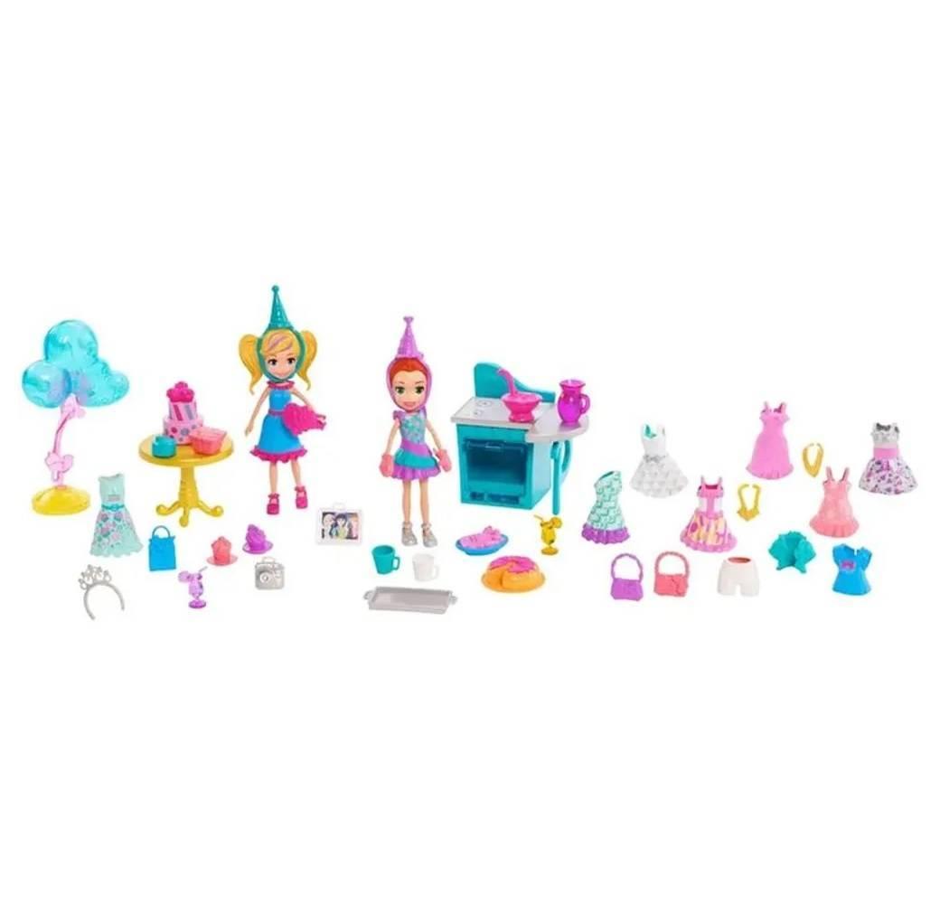 Festa de Aniversário Polly Pocket - Mattel GGJ53 - Noy Brinquedos