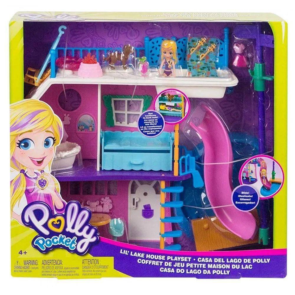 Casa do Lago Polly Pocket - Mattel GHY65 - Noy Brinquedos