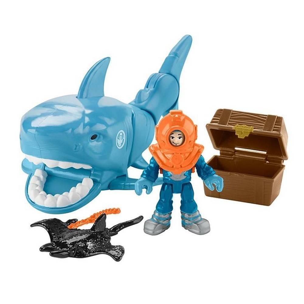Tubarão Tesouro Afundado Imaginext - Mattel GKG79 - Noy Brinquedos