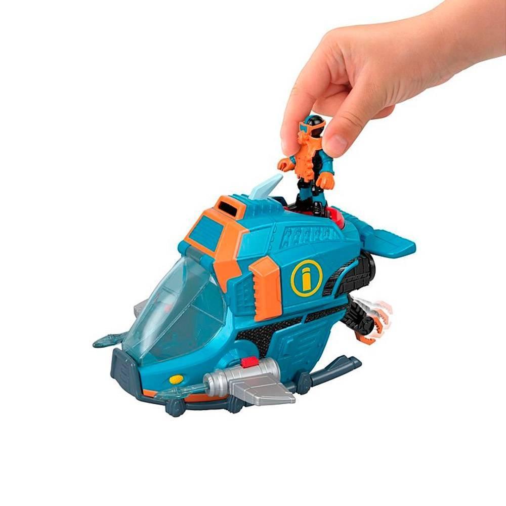 Submarino Rastreador de Tubarões Imaginext - Mattel GKG80 - Noy Brinquedos