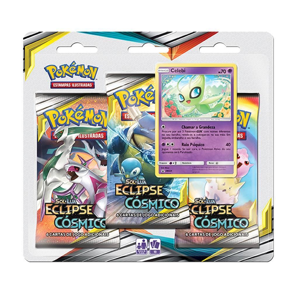 Celebi Blister Triplo Pokémon Eclipse Cósmico - Copag 99579 - Noy Brinquedos