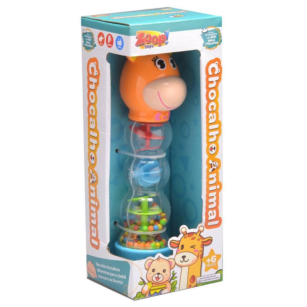 Girafa Chocalho Animal - Zoop Toys ZP00658 - Noy Brinquedos