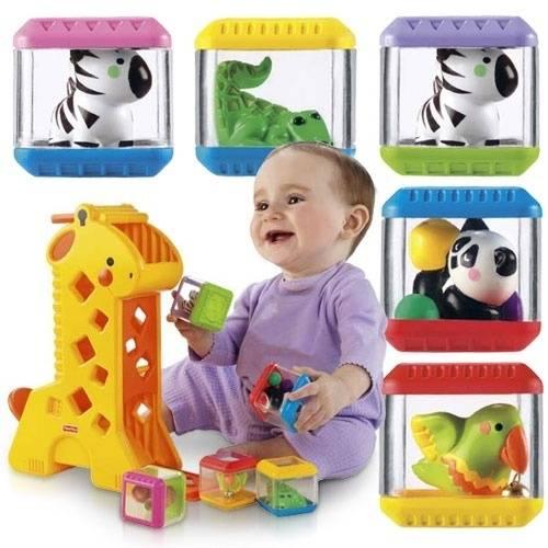 Fisher-Price Girafa Divertida com Blocos B4253 - Noy Brinquedos