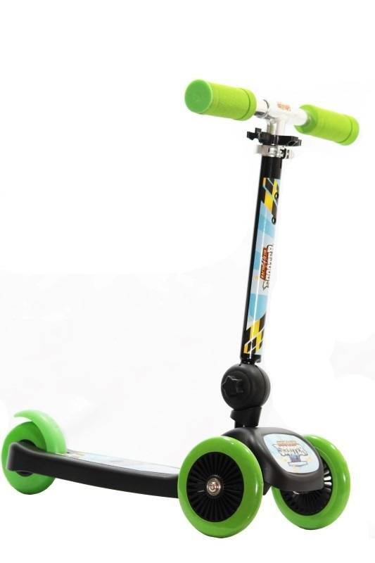 Patinete Scooter Net Mini Racing Club Preto com Verde - Zoop Toys ZP00104 - Noy Brinquedos