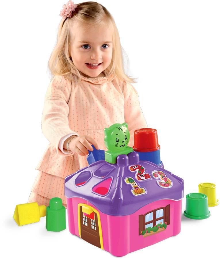 Casinha De Atividades Rosa - Dismat MK228  - Noy Brinquedos
