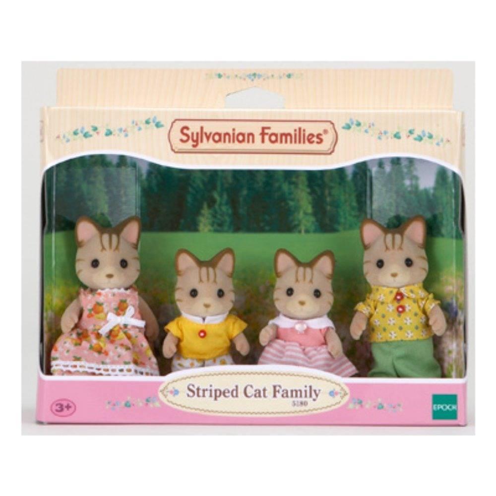 Família dos Gatos Listrados - Sylvanian Families 5180 - Noy Brinquedos