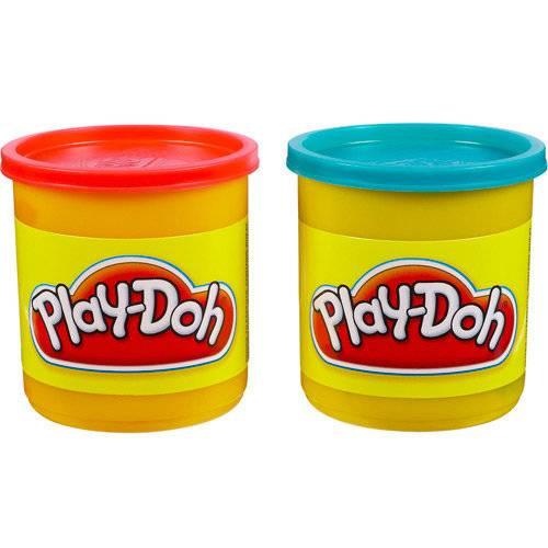 Play-Doh Potes Vermelho e Azul - Hasbro 23656 - Noy Brinquedos