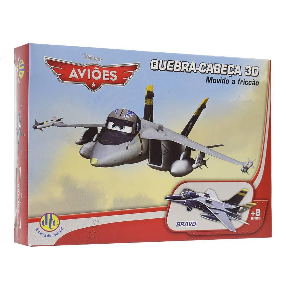 Quebra-Cabeça 3D Disney Aviões Bravo - DTC 3806 - Noy Brinquedos