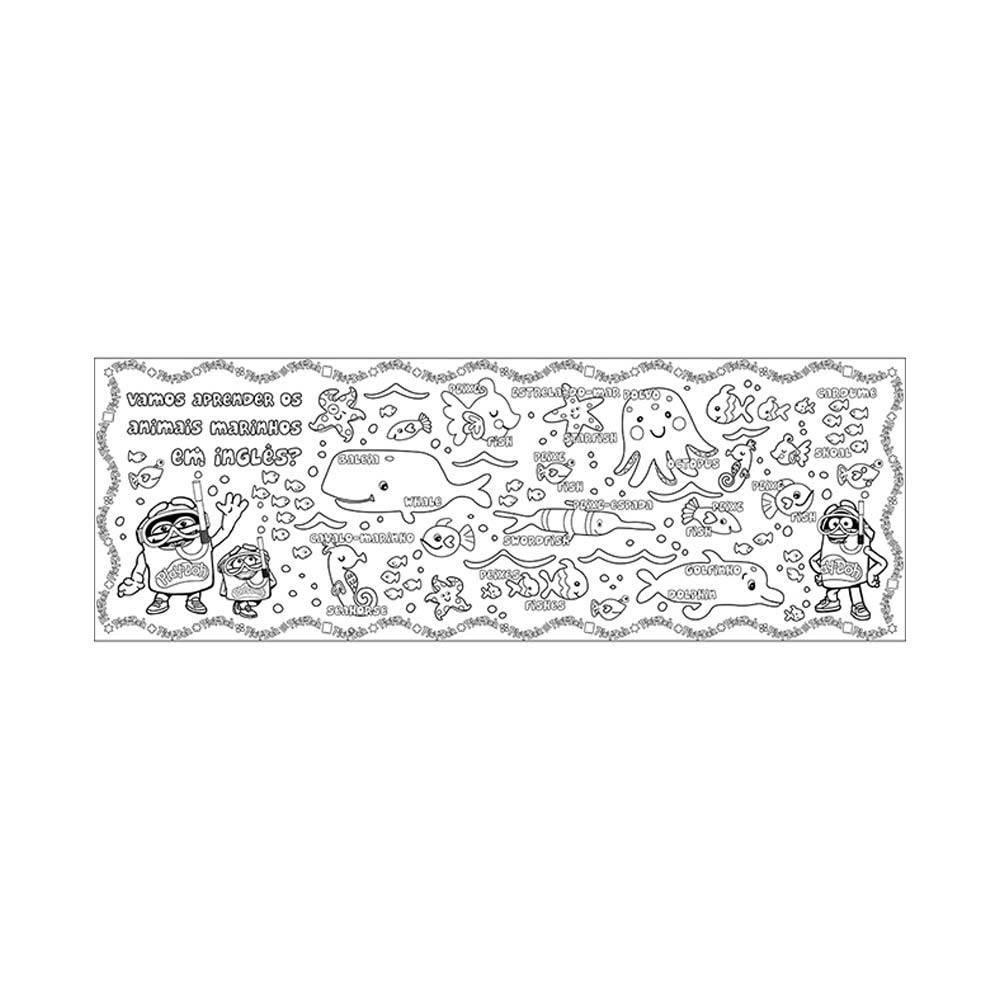 Tapete Colorido Play-Doh - Barão 8005-8 - Noy Brinquedos