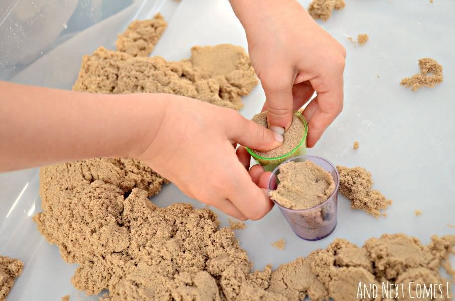 Marrom Natural Kinetic Sand - Sunny 1804 - Noy Brinquedos