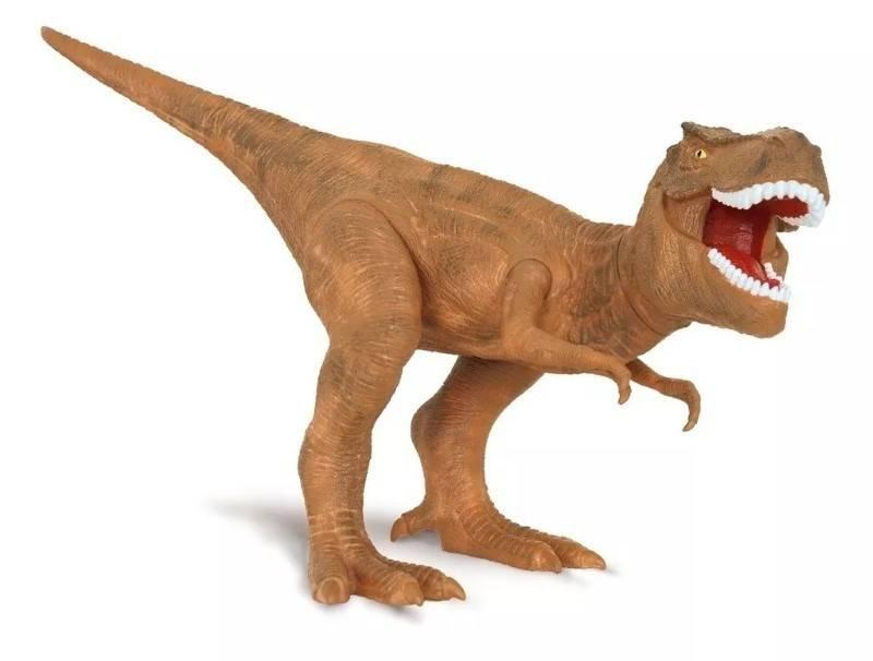 Tyrannosaurus Rex 42 cm Dino World com Som - Cotiplás 2088 - Noy Brinquedos