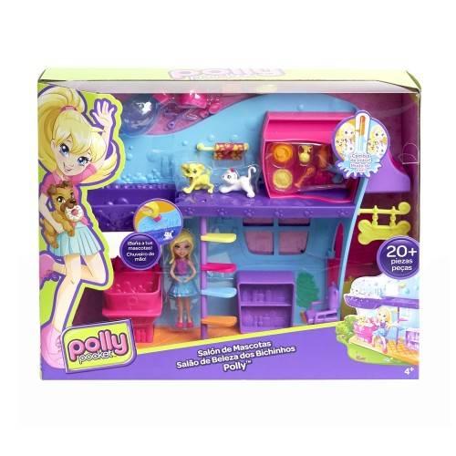 Spa dos Bichinhos Polly Pocket - Mattel FPH96 - Noy Brinquedos
