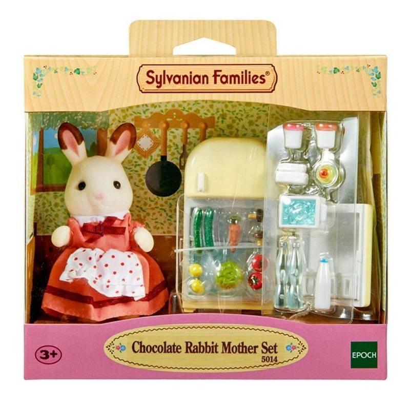 Mãe Coelho Chocolate e Geladeira - Sylvanian Families 5014 - Noy Brinquedos