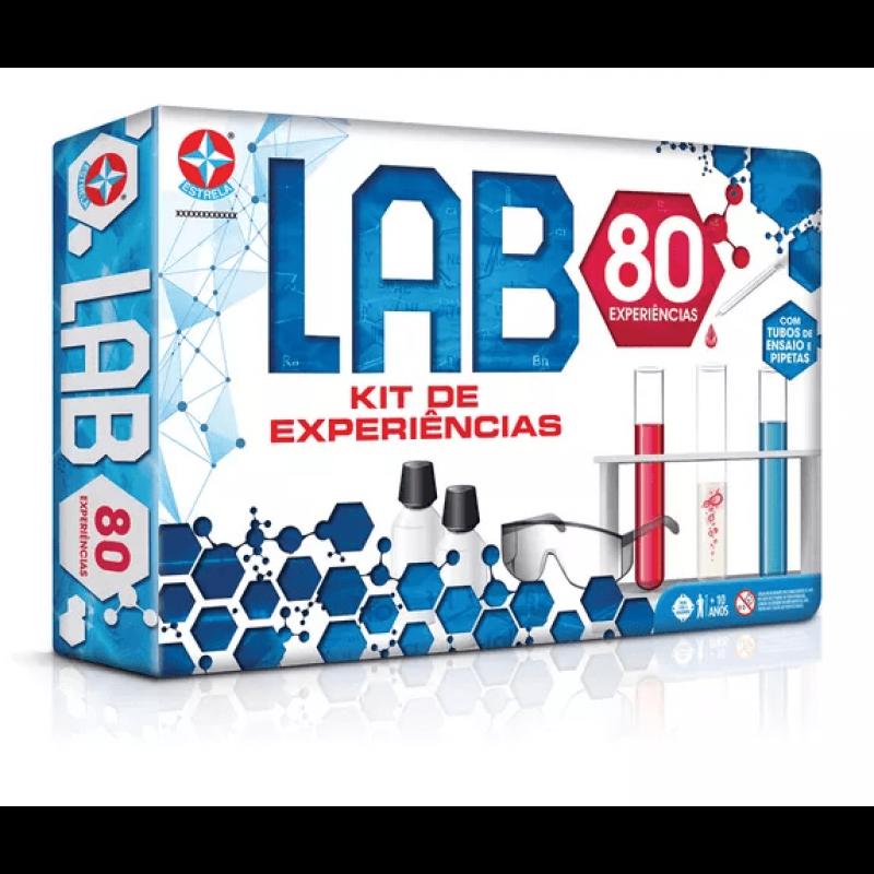 Jogo de Experiências LAB 80 - Estrela 1001612800020 - Noy Brinquedos