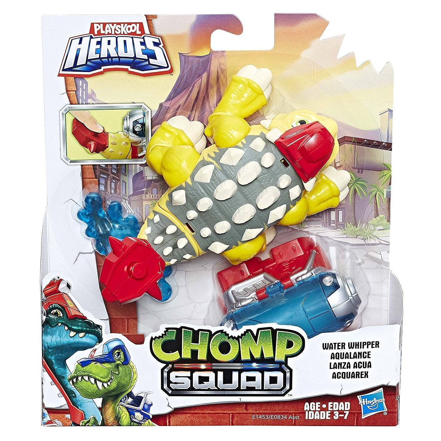 Water Whipper Chomp Squad Playskool Heroes - Hasbro E1453 - Noy Brinquedos