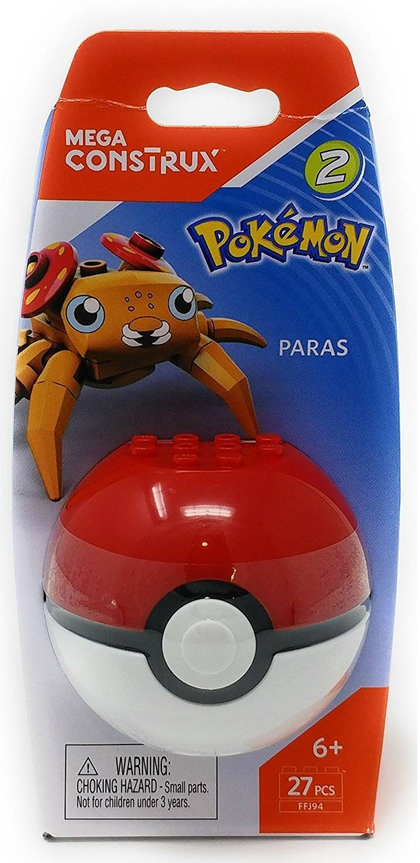 Paras Pokeball Mega Construx Pokémon - Mattel FFJ94 - Noy Brinquedos