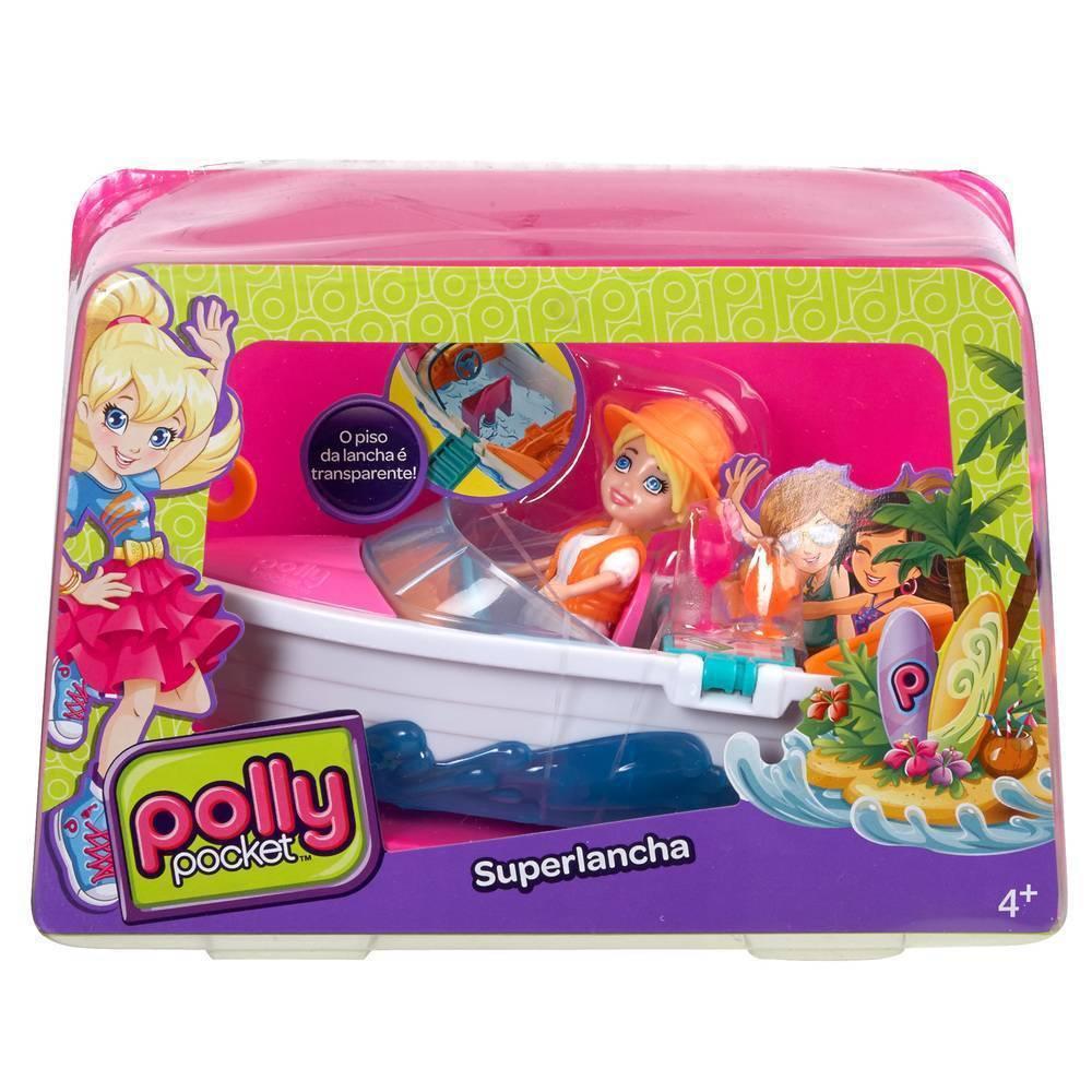 Super Lancha da Polly Pocket - Mattel CFM27 - Noy Brinquedos