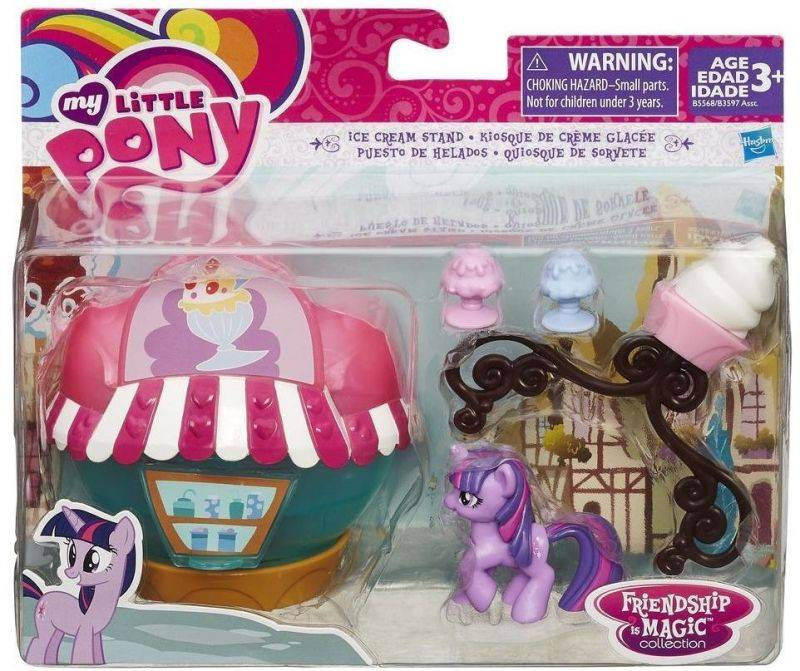 Quiosque de Sorvete Mini Cenário Figura My Little Pony - Hasbro B5568 - Noy Brinquedos