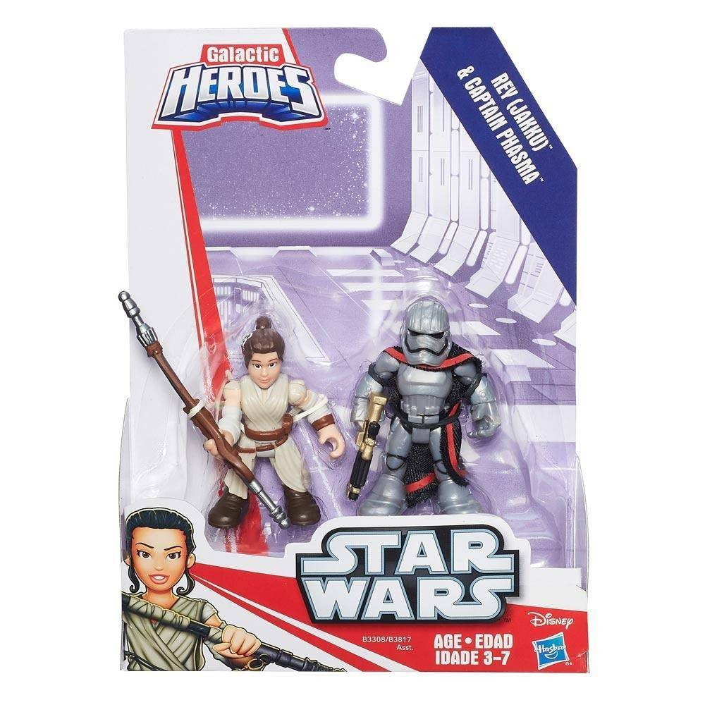Rey Jakku e Captain Phasma Playskool Heroes Star Wars - Hasbro B3308 - Noy Brinquedos