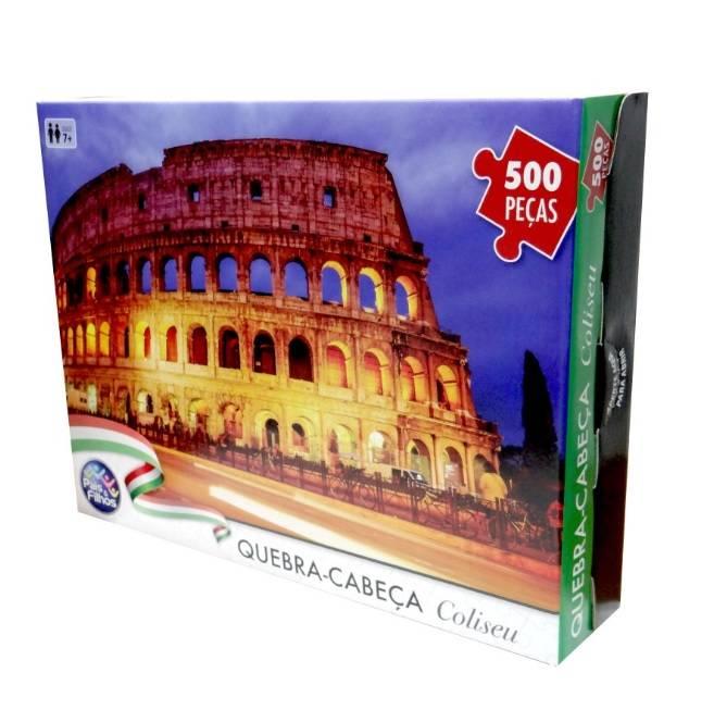 Coliseu 500 Peças Quebra Cabeça - Pais e Filhos 7265 - Noy Brinquedos