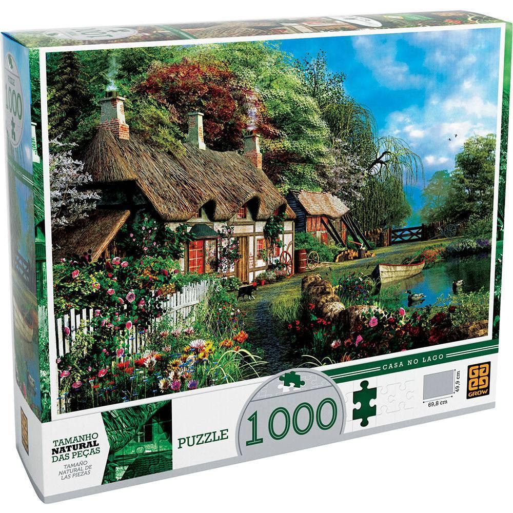 Casa no Lago 1000 Peças Quebra Cabeça - Grow 7265 - Noy Brinquedos