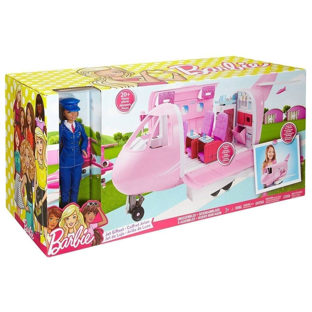 Avião de Luxo Barbie- Mattel FNF09 - Noy Brinquedos