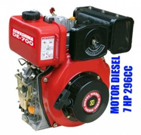 Motor diesel estacionário Kawashima DE-700 7hp 296cc partida elétrica