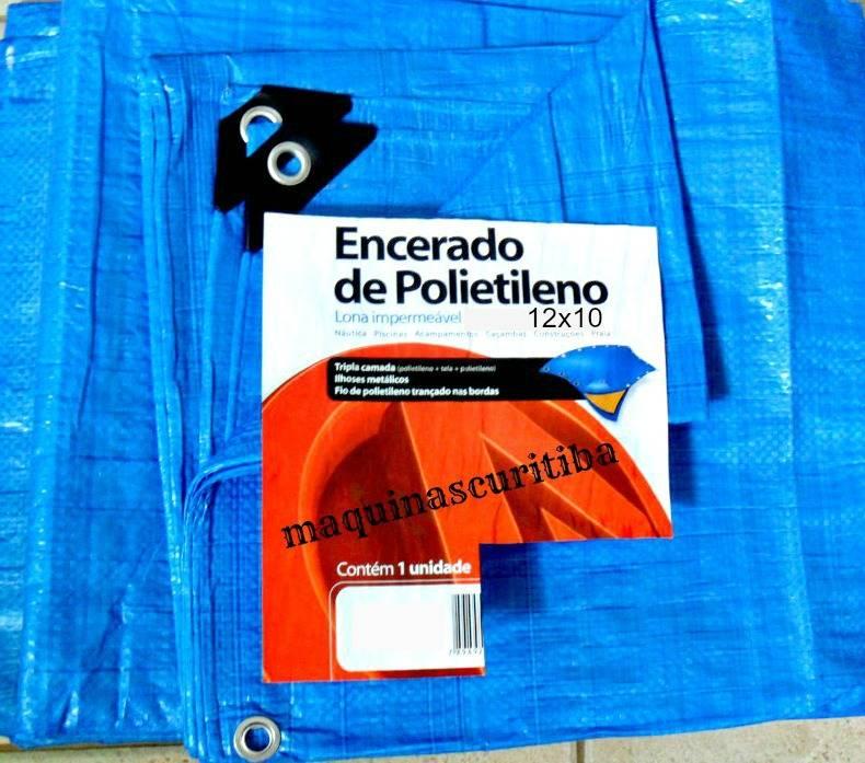 Lona plástica encerado azul 12x10m 150 micras para barraca camping telhado piscina