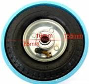Roda para drift trike 6x2 com pvc azul - o par