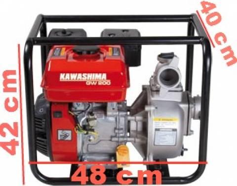 Motobomba bomba d'água a gasolina 7hp alta pressão kawashima gw 200h