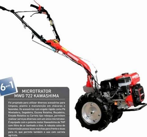Motocultivador Microtrator Tratorito kawashima mwg 722