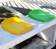 Assento banco para arquibancada quadra esportiva estádio