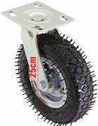 Rodízio pneumático giratório com pneu 2.50-4 | MÁQUINAS CURITIBA