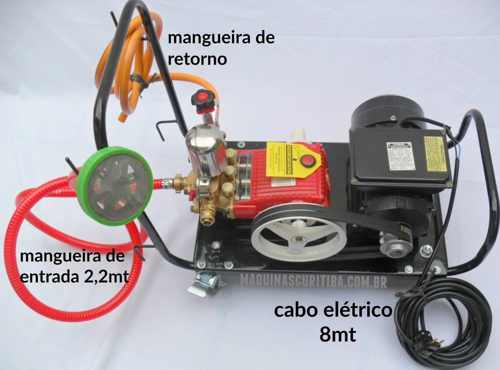 Lavadora de alta pressão bomba de pistão kawashima S22F com carrinho e motor