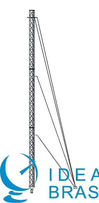 TORRE TRIANGULAR MODULAR ESTAIADA - 40M - AEV 2M