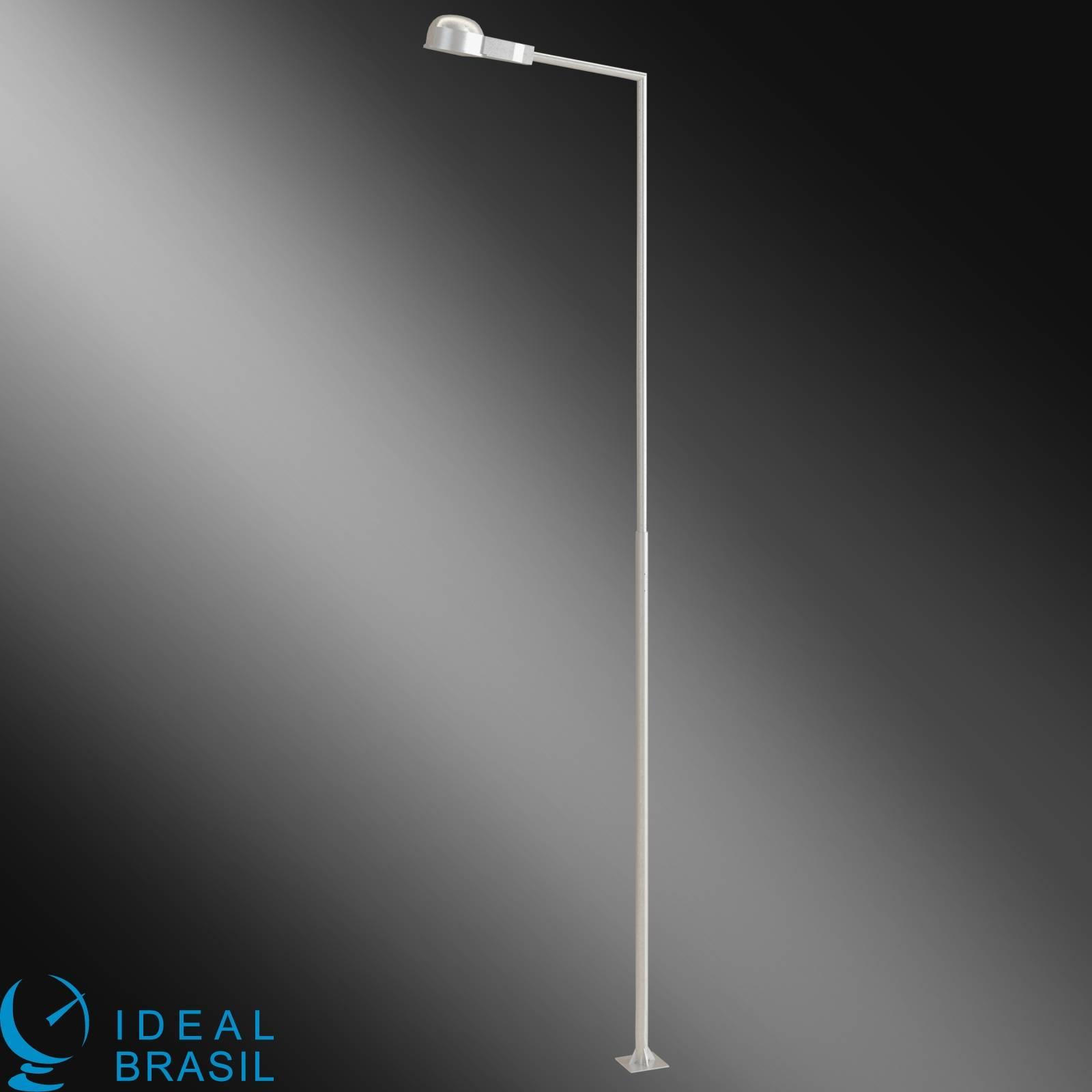 Mastro para Luminária tubo 76,2mm 2,5m