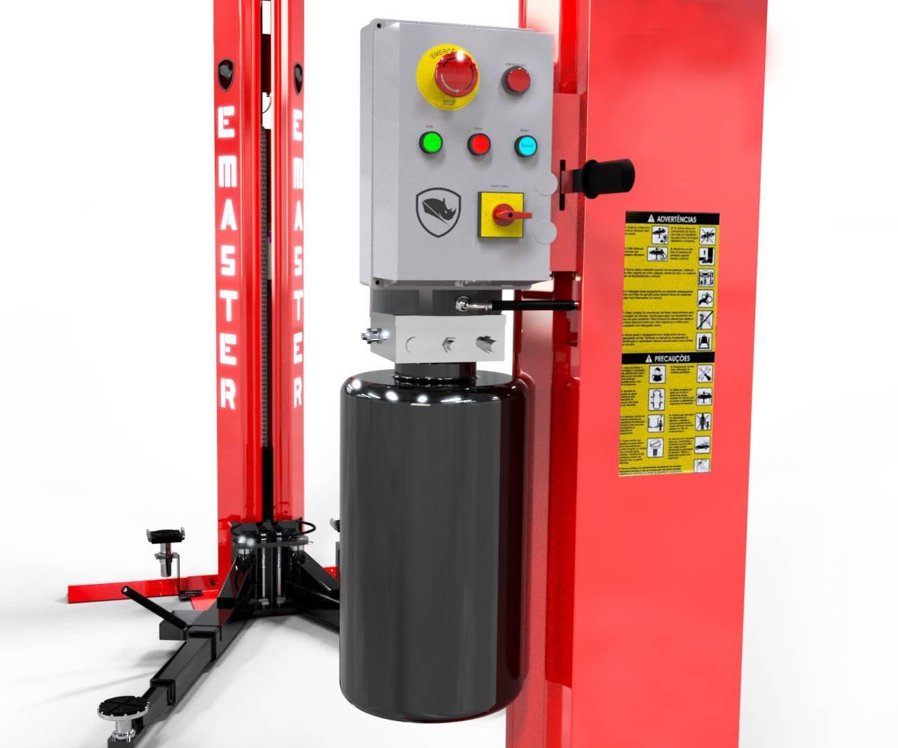 Elevador Automotivo Hidráulico Pórtico Monofásico 4.000 Kg ( - RODAVELE