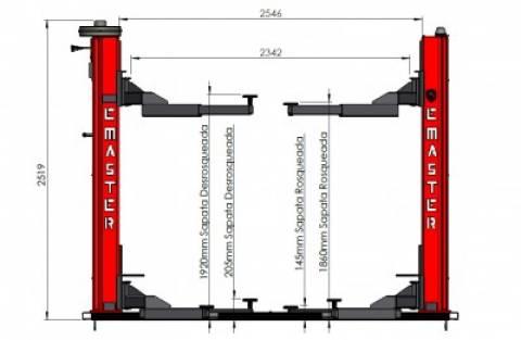 Elevador automotivo Emaster EC 2.5 Trif. (cód. 6009) - RODAVELE