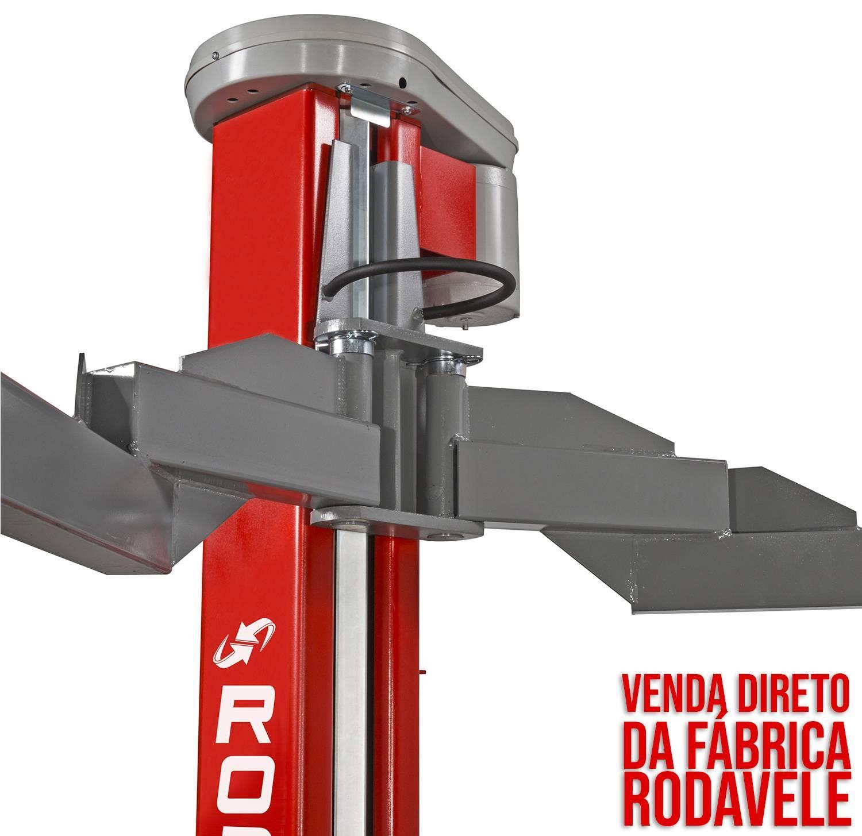 Elevador Automotivo ROD 4.0 TRIFÁSICO 220V Vermelho Lub.Manu - RODAVELE