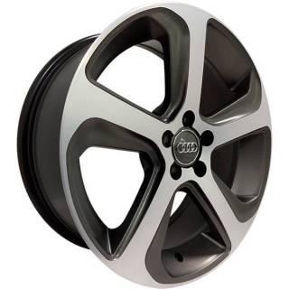 Jogo de Rodas Audi Q5 Monacco MW080 Aro 17 5x100 Grafite Semi Brilho Diamantado