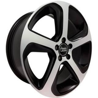 Jogo de Rodas Audi Q5 Monacco MW080 Aro 17 5x100 Preto Semi Brilho Diamantado