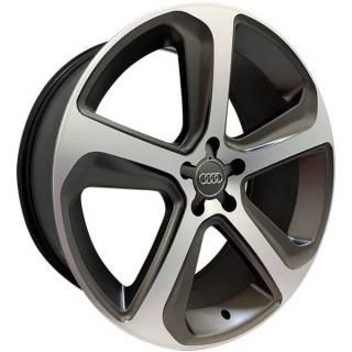 Jogo de Rodas Monacco Audi Q5 MW080 Aro 17 5x112 Grafite Semi Brilho Diamantado