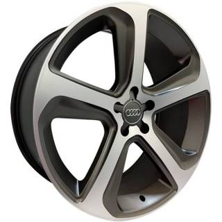 Jogo Rodas Audi Q5 Monacco MW080 Aro 17 5x112 Grafite Semi Brilho Diamantado