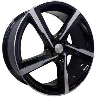 Jogo de Rodas Vollk Wheels VLK-300 Aro 20 5x113 Preto Brilhante Diamantado