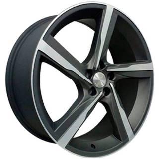 Jogo de Rodas Vollk Wheels VLK-300 Aro 20 5x108 Grafite Diamantado Semi Brilho