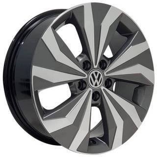 Jogo Rodas Monacco Lanzonne VW T-Cross Aro 16 5x100 Grafite Diam. Brilhante