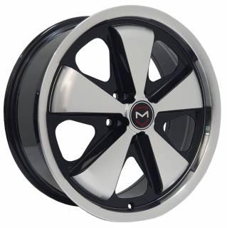 Jogo Rodas Vollk Wheels VLK-130 (FUCHS) Aro 17 5x113 Preto Diamantado Brilhante