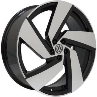 Jogo Rodas VW Golf Monacco Passione Aro 20 5x100 Preto Diamantado Brilhante