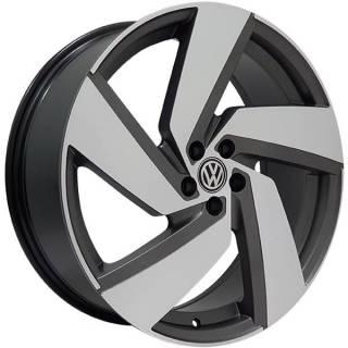 Jogo Rodas VW Golf Monacco Passione Aro 20 5x100 Grafite Diamantado Semi-Brilho