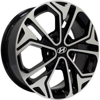 Jogo de Rodas Monacco Hyundai Maggiore Aro 16 5x114 Preto Brilhante Diamantado